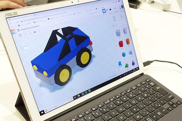 tinkercad(ティンカーキャド) | 3Dモデリングしたミニカーのデザインです。