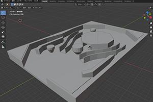 モデリングしたコースを使ってゲーム制作