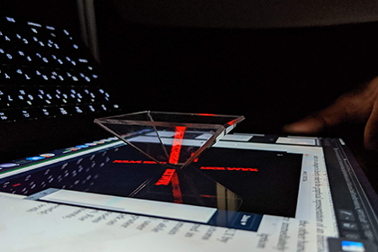 デジタルアート:Processingで3Dホログラムを投影しよう